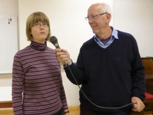 Marta Årnell och Bengt Wallin visade bilder från Sverige respektive Sydafrika