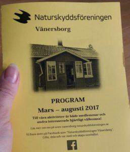 Vår och Sommarprogram 2017 aktiviteter Naturskyddsföreningen Vänersborg
