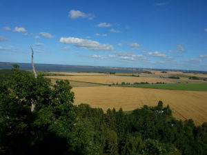 Sädesfält utsikt från Flo klev