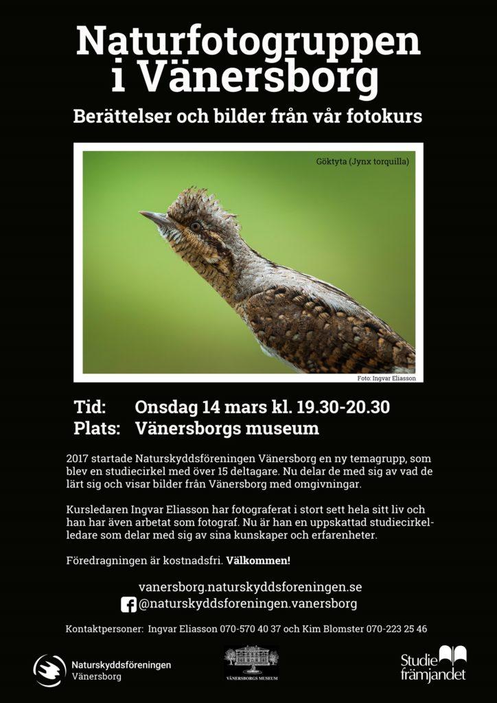 Affisch Naturfotogruppen 20180314 Vänersborgs museum