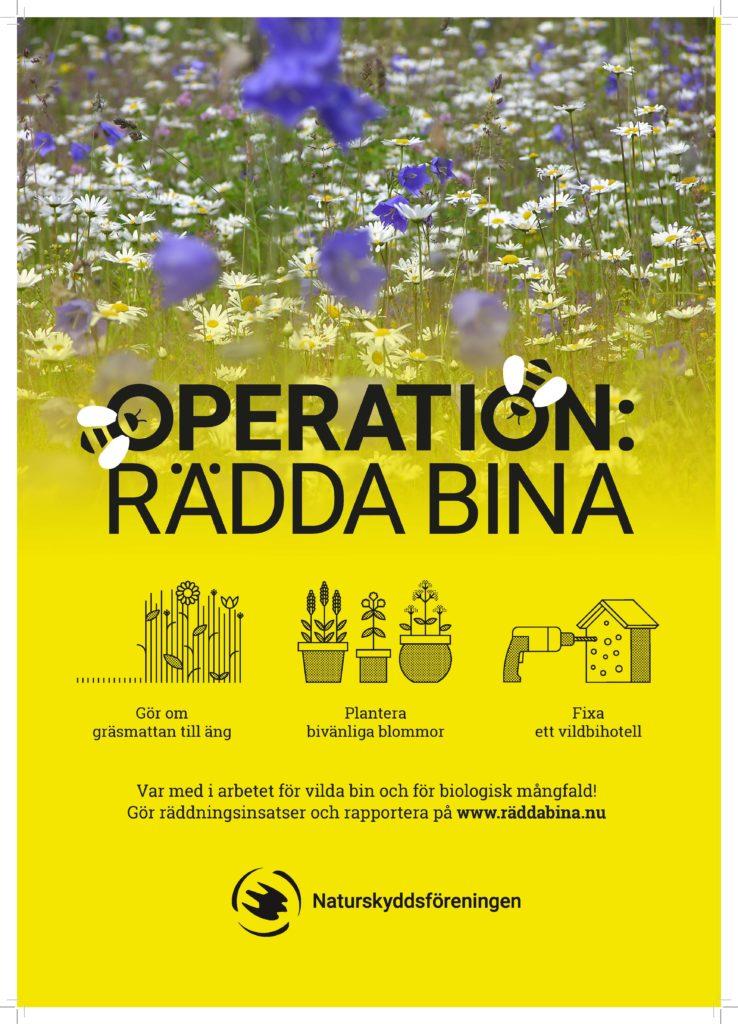 Affisch Rädda bina 2021